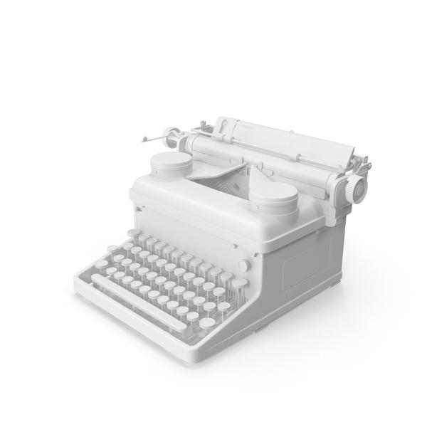 Monochrome Vintage Typewriter Royal PNG & PSD Images