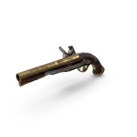 Flint-Lock Pistol Dirty PNG & PSD Images