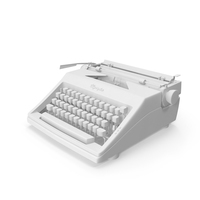 Monochrome Typewriter Olympia PNG & PSD Images