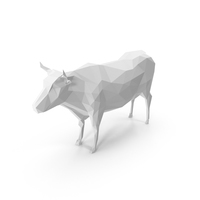 Low Poly Cow PNG & PSD Images