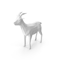 Low Poly Goat PNG & PSD Images