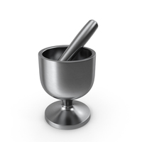 Metal Marble Mortar and Pestle PNG & PSD Images