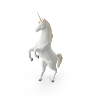 Low Poly Unicorn PNG & PSD Images