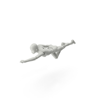 Posed Figure Flying PNG & PSD Images