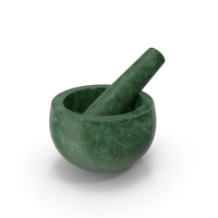 Green Marble Mortar and Pestle PNG & PSD Images