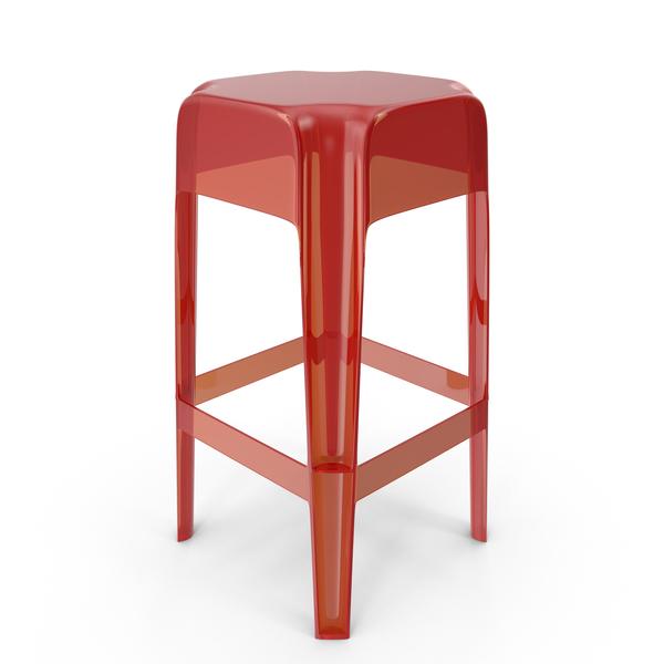 Red Plexiglass Bar stool PNG & PSD Images