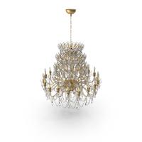 Crystal Golden Chandelier PNG & PSD Images