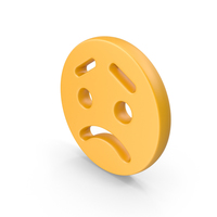 Sad Face with Eyebrows PNG & PSD Images