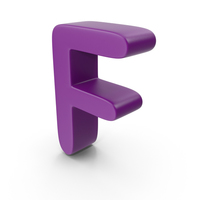 Purple Letter F PNG & PSD Images