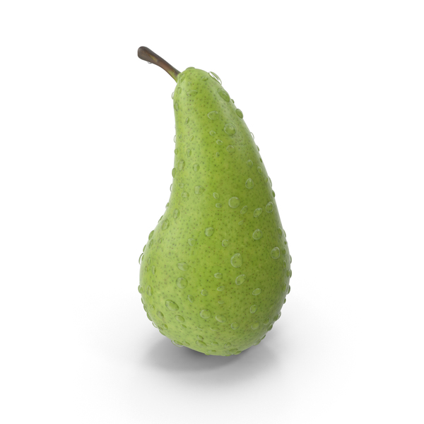 Pear with Water Droplets PNG & PSD Images