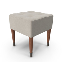 Mid-Century Modern Stool PNG & PSD Images