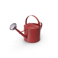 Red Garden Watering Can PNG & PSD Images