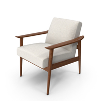 Mid-Century Modern Arm Chair PNG & PSD Images