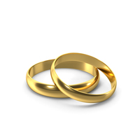 Gold Ring Pair PNG & PSD Images