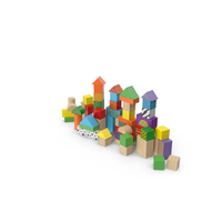 Wooden Building Blocks PNG & PSD Images