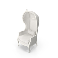 White Balloon High Baroque Chair PNG & PSD Images