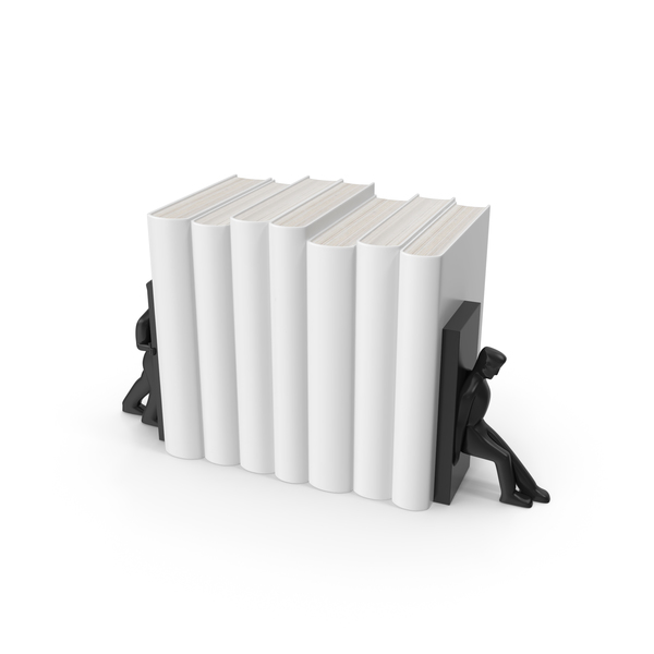 Books With Bookend Figures PNG & PSD Images