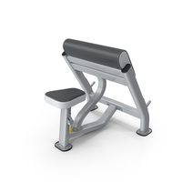 Seated Preacher Curl Exercise Bench PNG & PSD Images