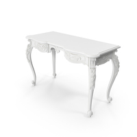 White Baroque Vanity PNG & PSD Images