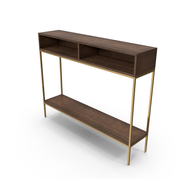 Mid-Century Modern Console Table PNG & PSD Images