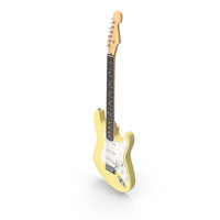 Yellow Electric Guitar PNG & PSD Images