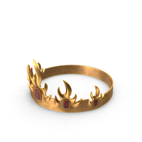 Crown with Rubies PNG & PSD Images