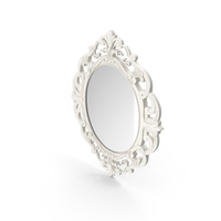 White Oval Mirror PNG & PSD Images