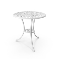 White Cast Iron Dining Table PNG & PSD Images