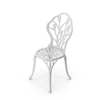 White Cast Iron Chair PNG & PSD Images