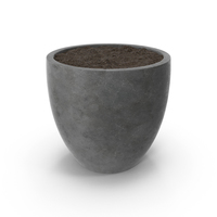 Flower Pot with Soil PNG & PSD Images