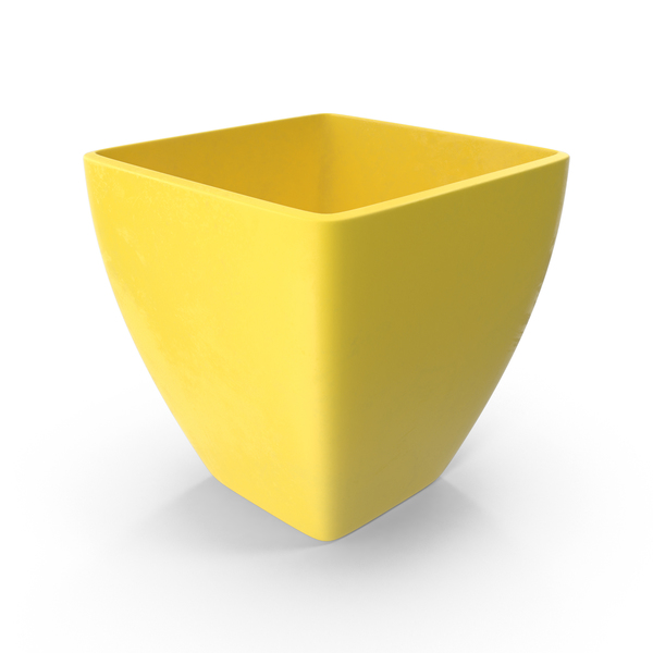 Yellow Flower Pot PNG & PSD Images