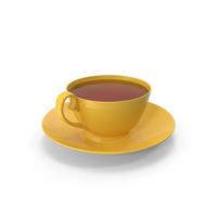 Yellow Tea Cup PNG & PSD Images