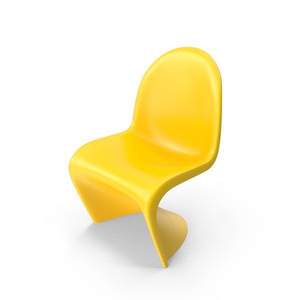 Yellow Vitra Panton Chair PNG & PSD Images