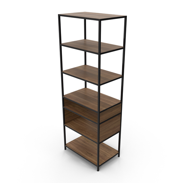 Contemporary Bookcase PNG & PSD Images