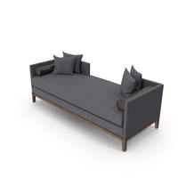 Mid-Century Modern Chaise PNG & PSD Images