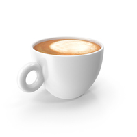 Cup White With Cappuccino PNG & PSD Images
