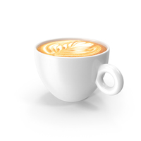 White Cup With Cappuccino PNG & PSD Images