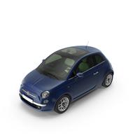 Fiat 500 Blu PNG & PSD Images