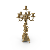 Baroque Candle Holder PNG & PSD Images