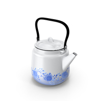 Enameled Teapot PNG & PSD Images