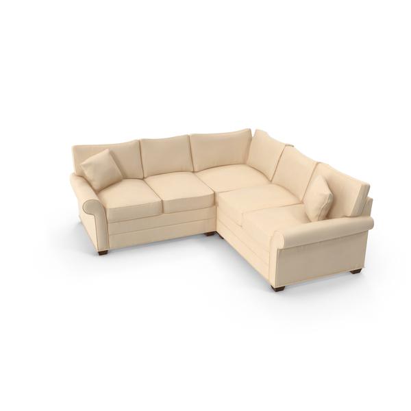 Traditonal Sectional Sofa PNG & PSD Images