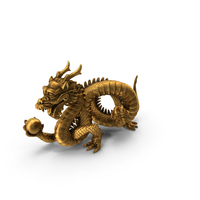 Chinese Dragon Statue PNG & PSD Images