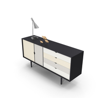 Mid-Century Modern Sideboard PNG & PSD Images