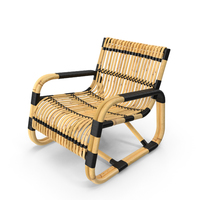 Cane-Line Curve Chair PNG & PSD Images