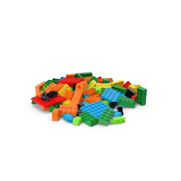 Lego Bricks Pile PNG & PSD Images