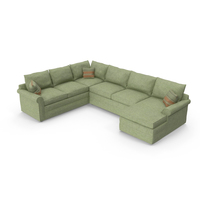 Classical Sectional Sofa PNG & PSD Images