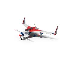 Rutan Long-EZ Thunderbirds Paint Scheme PNG & PSD Images