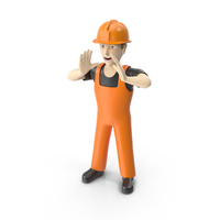 Construction Worker Shouting PNG & PSD Images