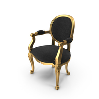Black Gold Angelique Armchair By Fabulous & Baroque PNG & PSD Images