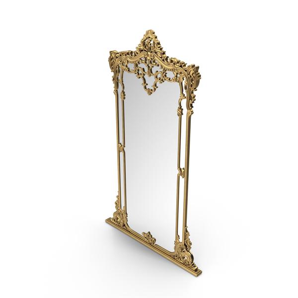 Baroque Floor Mirror PNG & PSD Images